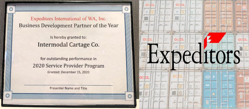 Intermodal Cartage Company Awarded Business Development Partner of the Year by Expeditors